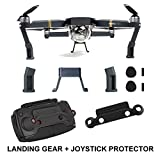 #6: FSLabs DJI Mavic Pro Platinum Accessories Landing Gear Leg Height Extender Riser with Protection Pad + Joystick Remote Control Protector