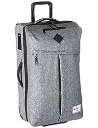 Herschel Supply Co. Parcel Luggage, Raven Crosshatch/Black Pebbled Leather