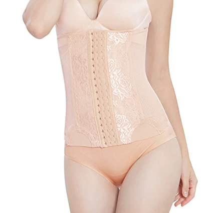 e2029d478b3 Image Unavailable. Image not available for. Color  Allywit Women Shapewear  High Waist Body Shaper Tummy Slimming Underwear Cincher Control Corset ...