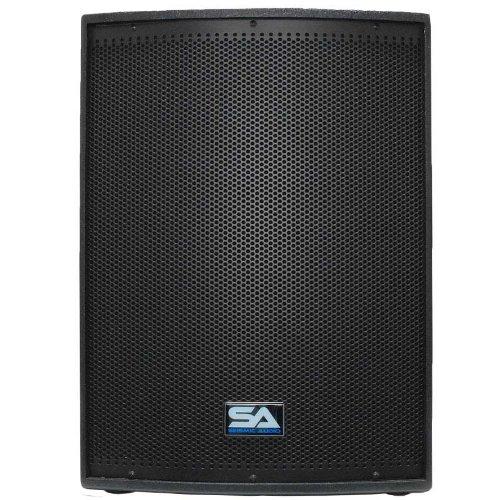 Seismic Audio Pair 12-Inch Pro Audio PA/DJ Speakers Textured Painted Monitors, Black