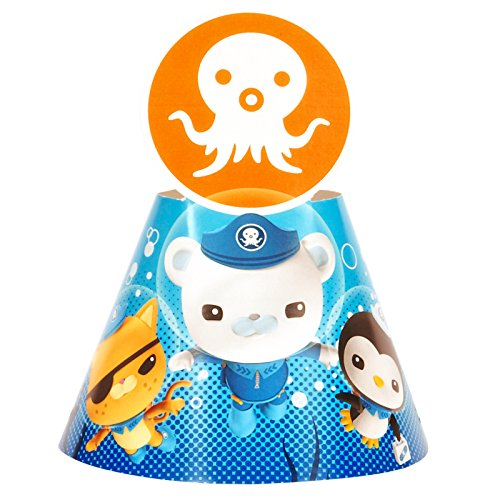 Octonauts Birthday Party Supplies 8 Pack Cone Party Hats