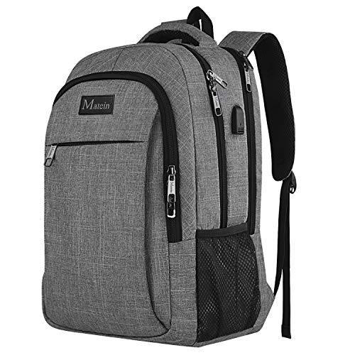 Travel Laptop Backpack, Professional Business Backpack Bag with USB Charging Port, Slim Lightweight Laptop Bag, Water Resistant School Rucksack for Women Men, Fits 15.6 Inch Laptop and Notebook