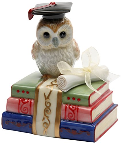 Cosmos Gifts 80129 Owl Graduate Musical Ceramic Figurine, 4-1/8-Inch