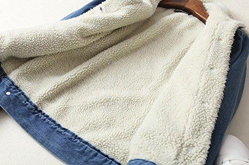 Giubbino Foderato Ricamo Minetom Denim Capispalla Giacca Corto Donna Primavera Jacket Jeans Outerwear Rose Manica Scuro Blu AB Autunno Lunga Ragazze RwTRvq