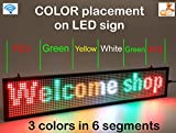 LED Display Mix Color with WiFi Connection, LED Scrolling Message Sign, Bright and in New Light auminum housing