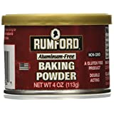 Rumford Baking Powder, Gluten Free, Aluminium Free 4 oz (Pack of 1)