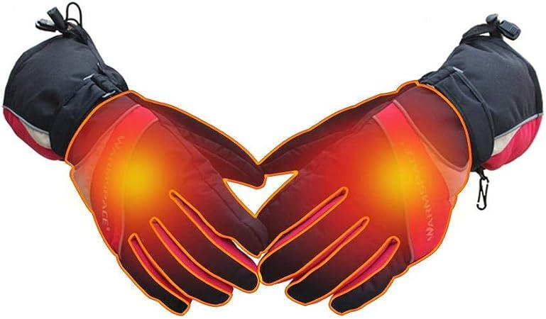 whelsara Guantes Calefactables Recargables Impermeables Unisex Excitement 12 V Aire Libre Senderismo para Invierno Calefacci/ón El/éctrica Acampada Caza