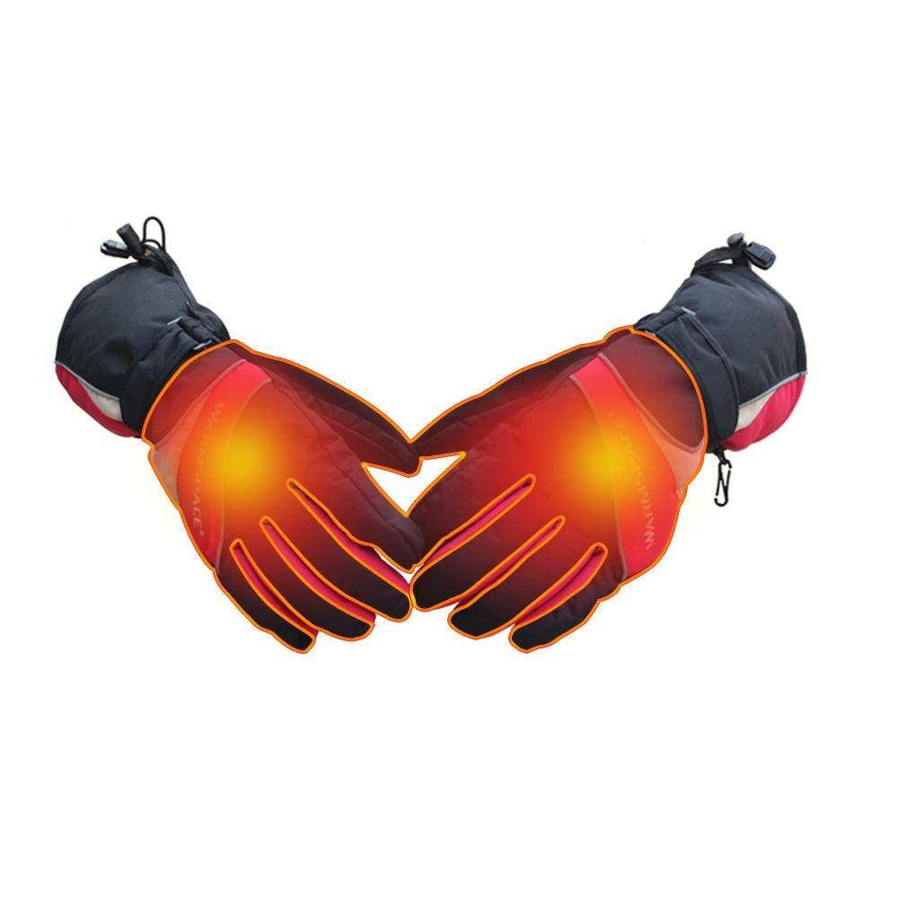 Anticongelante A Prueba De Viento C/álido Impermeable Antideslizante Guantes Calefactables Moto Mujer Hombre Bateria ,Guantes Deportivos De Invierno Con Cinco Dedos Y Engrosamiento