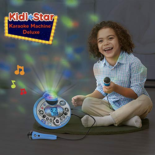VTech Kidi Star Karaoke System 2 Mics with Mic Stand & AC Adapter, Blue by VTech (Image #4)