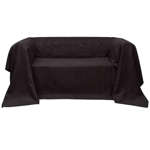 vidaXL Funda marrón para sofá de Micro-Gamuza Dimensiones ...