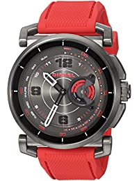 On Men's Hybrid Smartwatch Red Silicone DZT1005