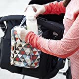 Skip Hop Insulated Breastmilk Cooler And Baby Bottle Bag, Grab & Go Double, Triangles