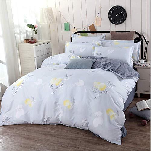 SSHHJ Duvet Cover Set Cotton Soft Fabric Twin Queen King Size Bedding Set F 180x220cm]()