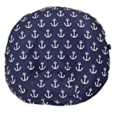 Water Resistant Removable Newborn Lounger Cover for Baby Boys with Anchors (Navy Blue)