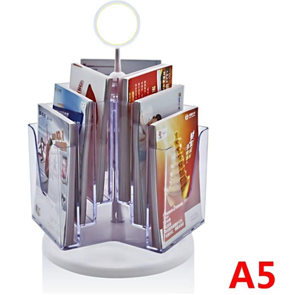 LPYMX Menu Holder Flyer Holder File Holder Transparent Acrylic Manual Holder, Desktop Display Stand for A5 Flyers A4 Display Stand by LPYMX