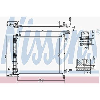 aire acondicionado 940372 para nissan Nissens condensador