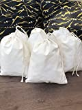 Cotton Single Drawstring Muslin Bag. Highly Quality Fabric. Pack of 25 (8 x 10 Inches)