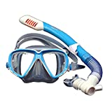 Children Snorkeling Gear Dry Top Kids Diving Mask Set Junior Swim Goggles Tube