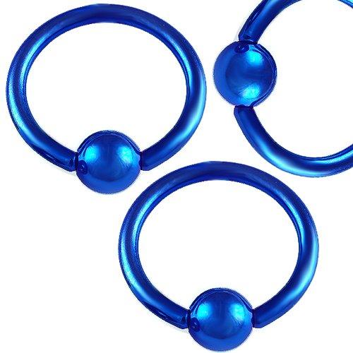 - 14g 14 gauge 1/2 Stainless Steel eyebrow lip ear tragus ball closure ring bulk bcr captive bead bar lot AQJR Piercing 3pcs