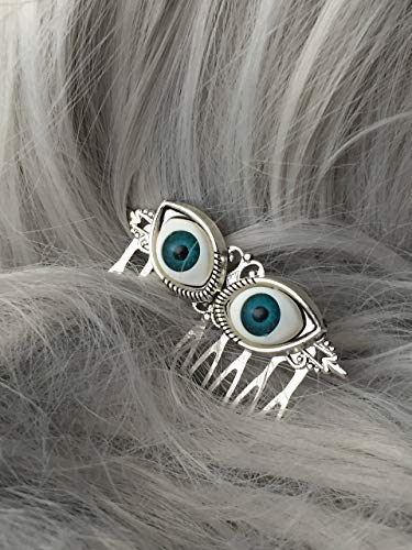 Eyeball Halloween Hair Accessories By Arcanum By Aerrowae - Halloween Costume Hair Comb]()
