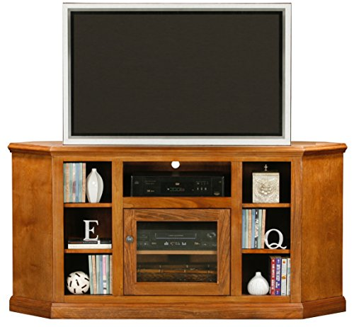 Eagle Coastal Thin Corner Entertainment Console with Bookcase Sides, 63