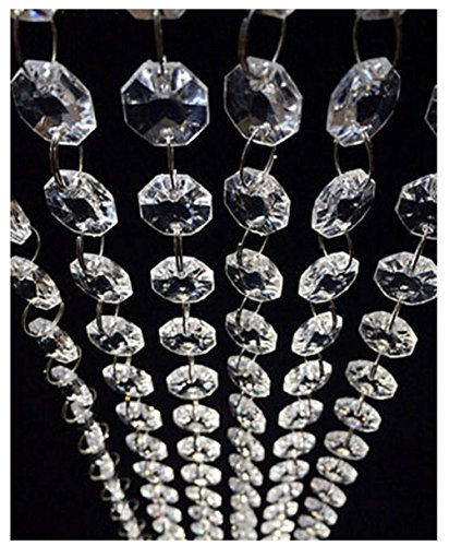 98.4FT Magnificent Crystal Acrylic Gems Bead Strands, Manzanita Crystals, Tree Garlands, Christmas Wedding Party Celebration Decoration (99FT(30M))