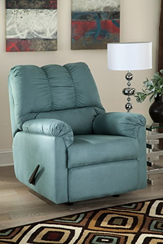 Sky Rocker Blue - Ashley Darcy Fabric Rocker Recliner in Sky
