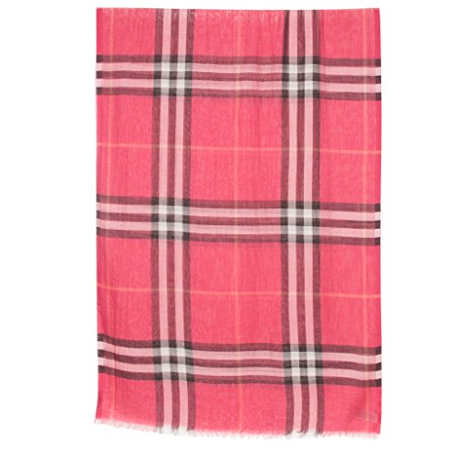 Burberry Women's Check & Silk Scarf Rose by BURBERRY