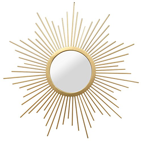 Cheap Formosa Gold Sunburst Round Wall Mirror