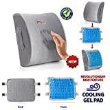 Lumbar Support Pillow Cushion, Memory Foam Soft & Firm to Protect & Soothe Lower Back, Pain Relief,...