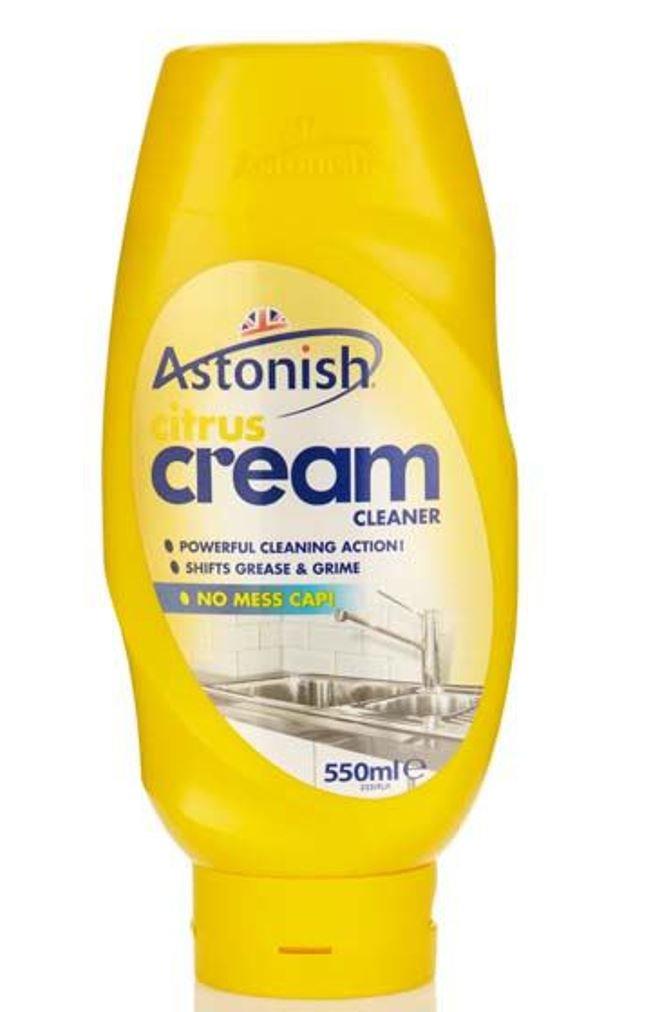 Astonish Citrus Cream Bathroom Household Cleaner 550ml