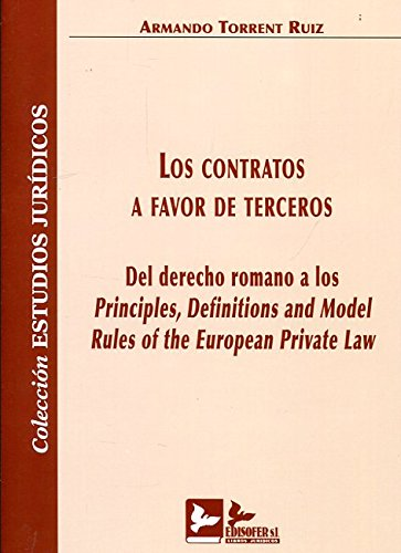 Descargar Libro Los Contratos A Favor De Terceros Armando Torrent Ruiz