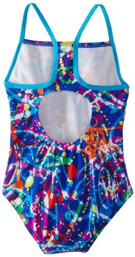 Speedo Girls Graphic Graffiti Thin Strap Swimsuit