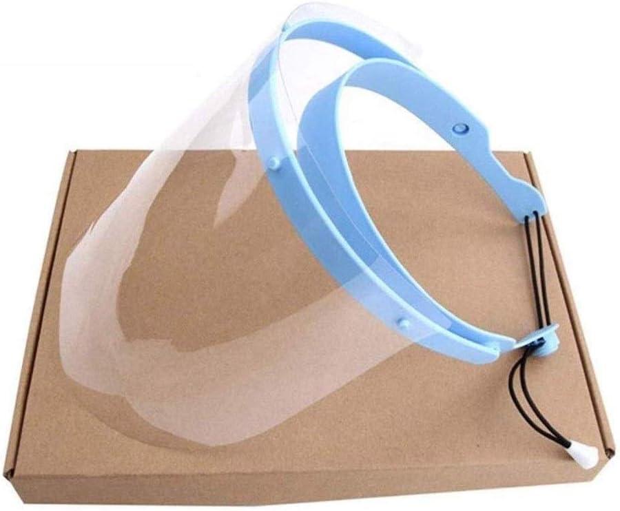 Ajustable Escudo cara dental con 10 Película de plástico de protección, mascarilla anti y saliva película protectora, cocina que cocina de doble cara anti-vaho del Anti-Aceite Splash