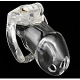 Baonmy Male Chastities Device Cages 4 Size Lock Penis Ring Pink Chastity Cage (Transparent)