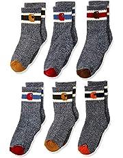 Carhartt boys Camp Crew Sock-6 Pair Pack