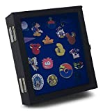 Hobbymaster Pin Collectors Compact Display Case for Disney, Hard Rock, Olympic, Political Campaign & Other Collectible pins, Holds 20-50 pins (Black)
