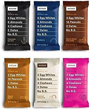 RXBAR Barra de proteínas de alimentos integrales, paquete de variedades, todos los sabores (12 barras)