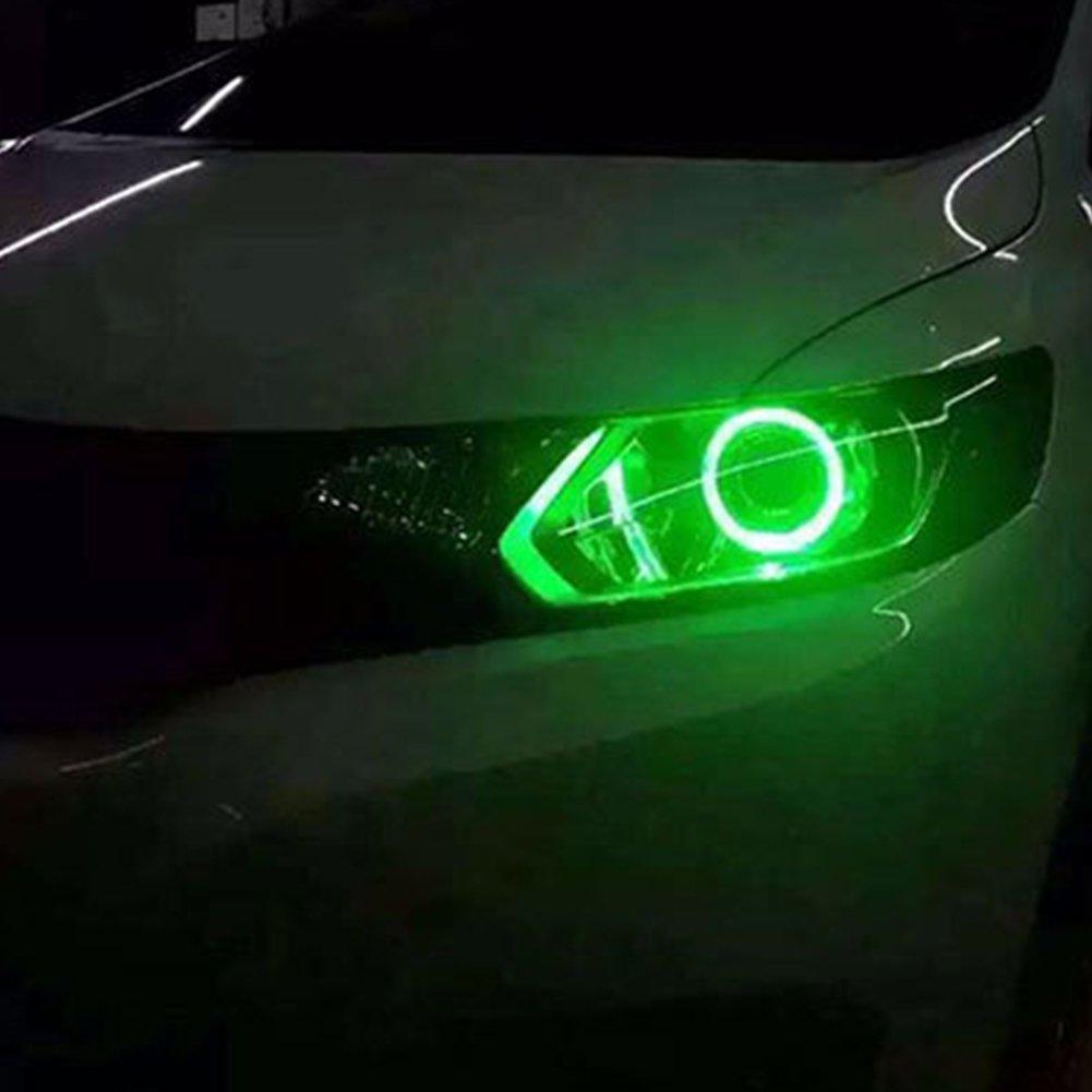 de Taben. 1 par de luces de ojo de /ángel en forma de anillo 6500K de 60 mm con luces LED COB 45SMD CC 12V con tapa incluida luz blanca