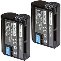 ecoEfficiency 2 Pack of EN-EL15 Batteries for Nikon D7500 Digital SLR Camera