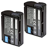 ecoEfficiency 2 Pack of EN-EL15 Batteries for Nikon D7500 Digital SLR Camera