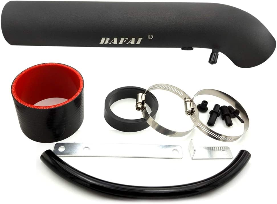 BAFAI 3 Inch Air Intake Hose with Adjustable Clamp Universal Cold Air Intake with Support Brackets Air Intake Tube Kit for Honda Civic Accord, Acura Legend Integra, Corolla, Chevy Black