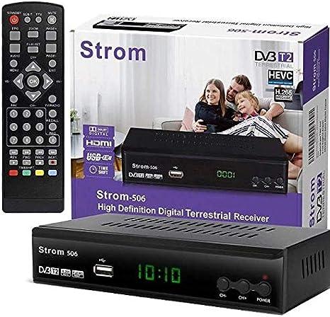 Hd Line Strom 506 Dvbt 2 Receiver Digital Dvbt T2 Receiver Kompatibel Home Cinema Hdmi 2 0 Scart Usb 2 0 Full Hd 1080p Hevc H 265 H 264 Mpeg2 Mpeg4 Automatische İnstallation Schwarz Amazon De