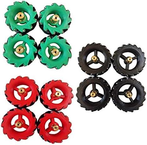 アクリル製 タイヤ ホイール カップリング付き 滑り止め 径約40mm カー&バギー に対応 全3色 - グリーン