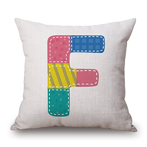 [Uloveme 16 X 16 Inches / 40 By 40 Cm Letter Pillow Covers,double Sides Is Fit For Wedding,kids Girls,couch,girls,divan,kids] (Matching Costumes For Mom And Baby)