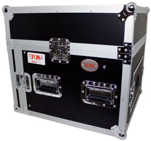 Pro X T-8MRSS 8U x 10U Space Slant Combo DJ ATA 300 Rack Flight Case by TOV
