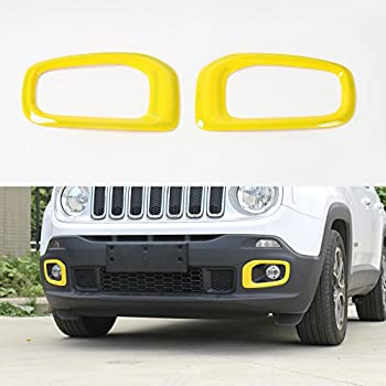 For Jeep Renegade 2015 2016 2017 Orange ABS Taillight Lamp Cover Trim Frame 2pcs