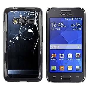 rígido protector delgado Shell Prima Delgada Casa Carcasa Funda Case Bandera Cover Armor para Samsung Galaxy Ace 4 G313 SM-G313F /Steel Brushed Shiny Floral Art/ STRONG