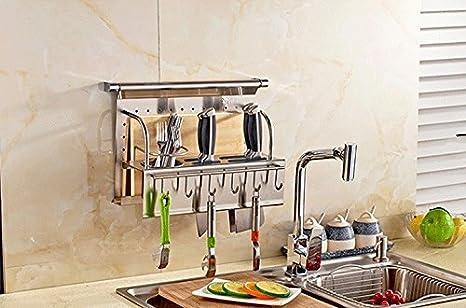 Amazingkit cucina con bacchette di acciaio inox mensola cucchiaio