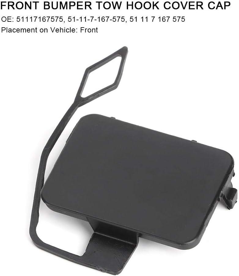 Front Bumper Tow Hook Cover Cap for 3-Series E90 E91 2005-2008,PA66-GF30 Bumper Hook Cap 51117167575